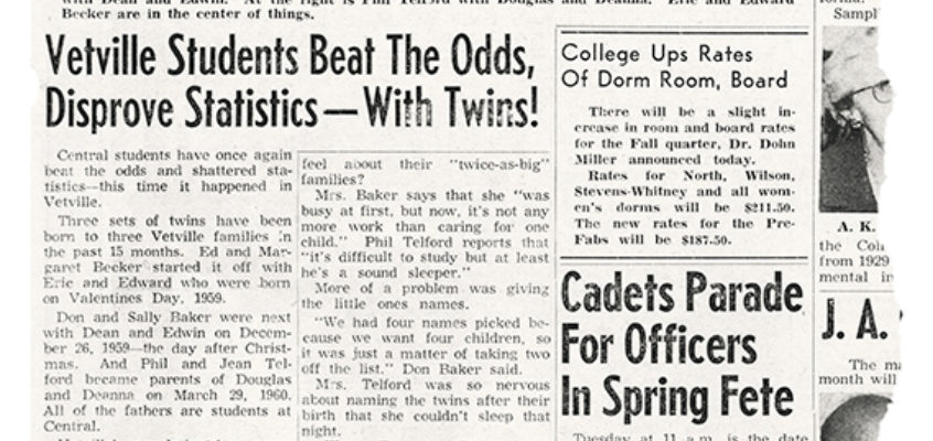 Campus Crier 27may1960 vetville twins torn edge