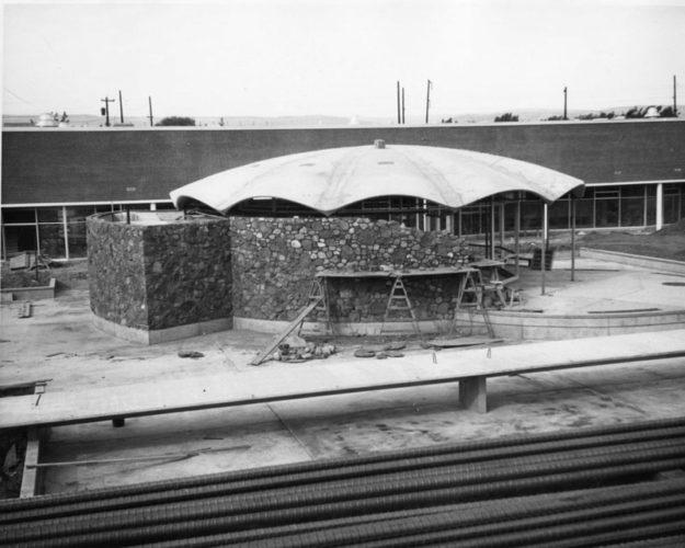 Grupe Center under construction 1960